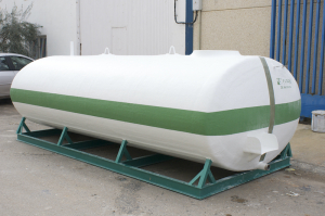 Rolling tank with frame from 9,000 L