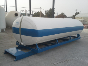 Transport tank with frame plus trolley