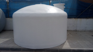Flat bottom tank with side spout