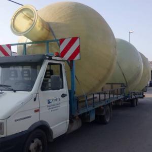 Transport of spherical tanks to bury